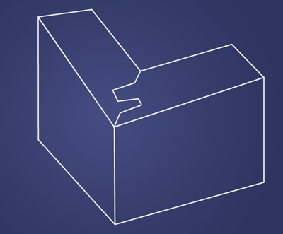 Lock Miter Illustration